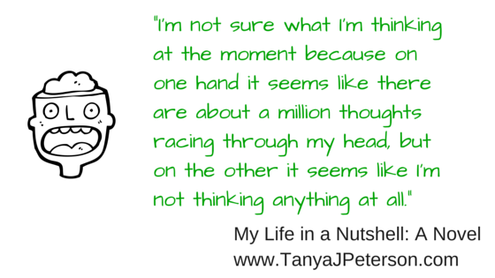 Anxiety can cause so many thoughts to race through one's head that it becomes overwhelming.