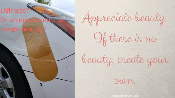 Appreciate beauty as a way to enhance your wellbeing. Appreciating beauty helps us shift our focus, and it's a part of mindfulness. If you can't find beauty, create beauty.