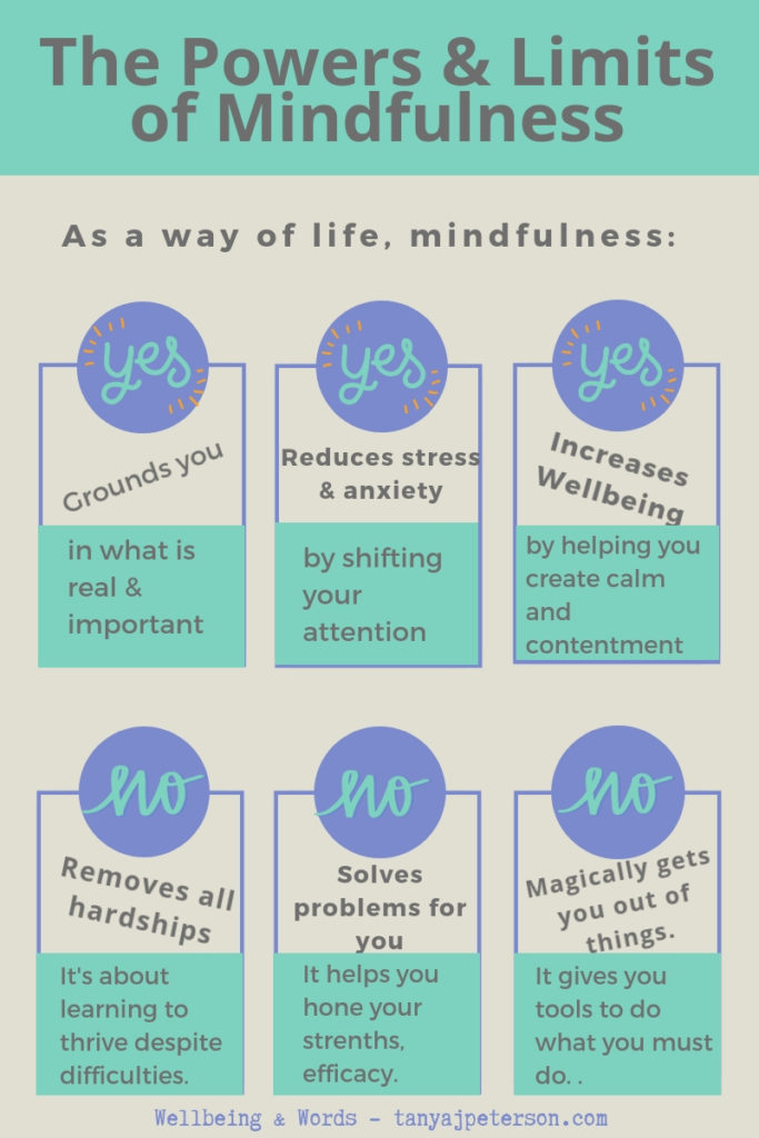 Mindfulness is a powerful way of life that enhances wellbeing. Mindfulness can do many things, but it does have limits. Discover its powers and limits.