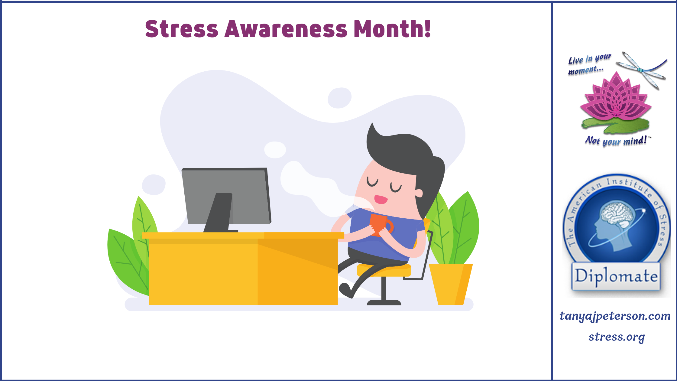Constant Rushing Causes Stress And Keeps The Body's Fight-or-flight Response Activated. This Is Damaging To Total Health, Wellbeing. Take Minibreaks To Reset.